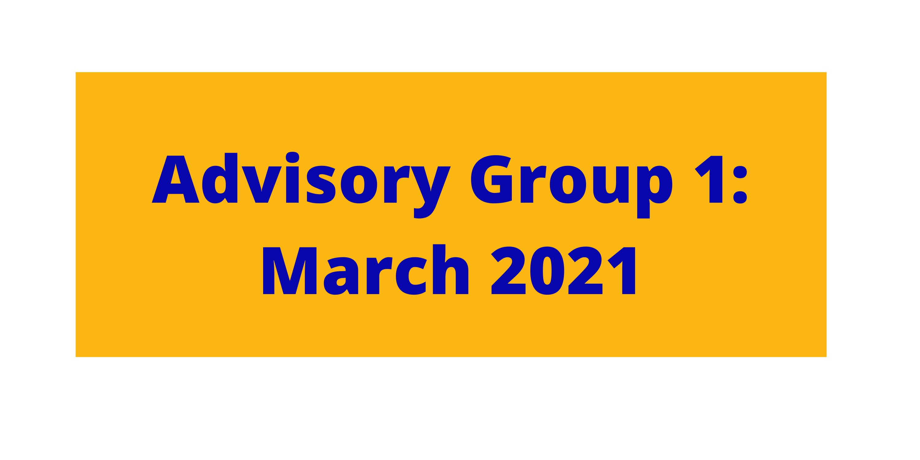 Link to advisory group meeting 1 page
