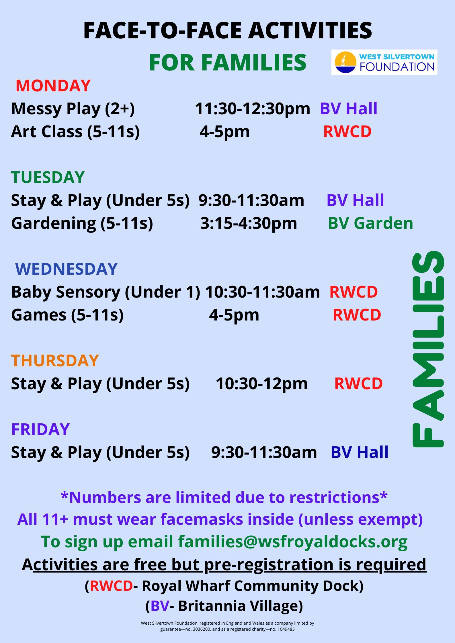 Kids Activities April 21