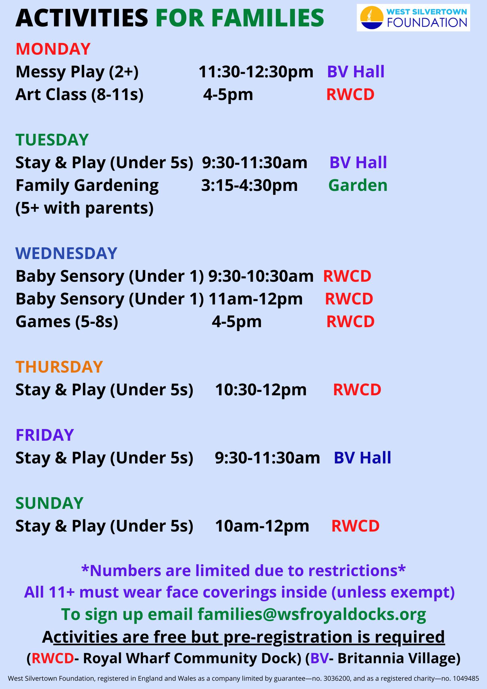 Kids Activities June 21