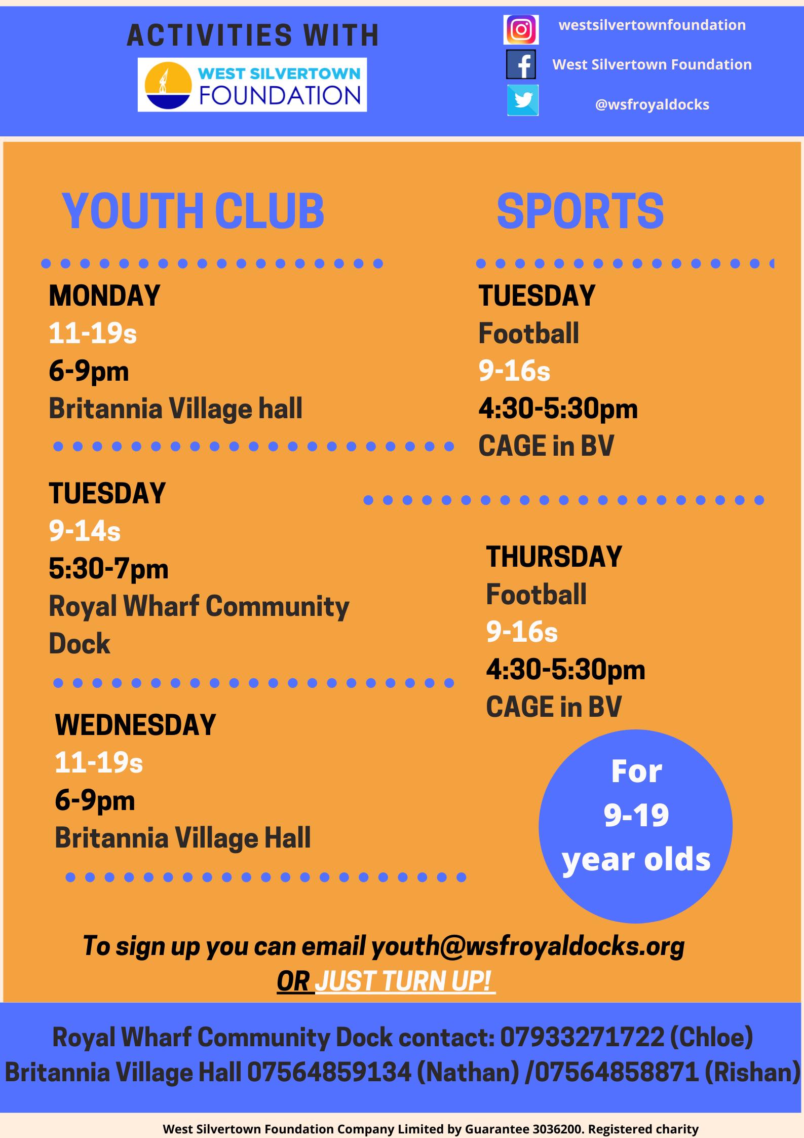 Youth activities flyer June 21