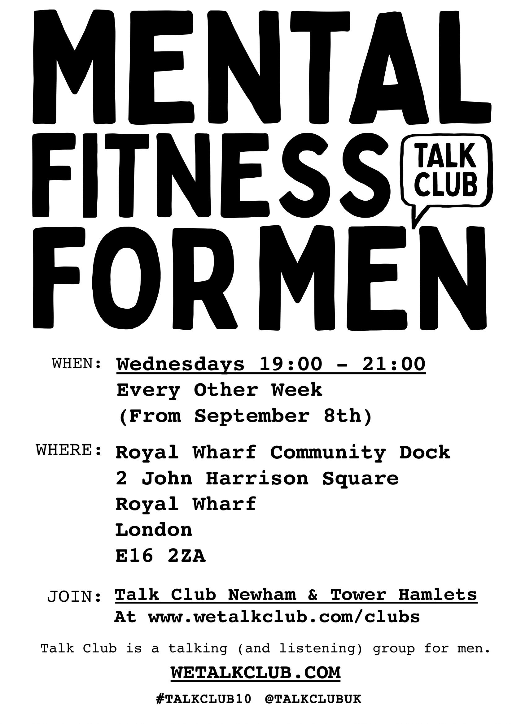 talk club poster