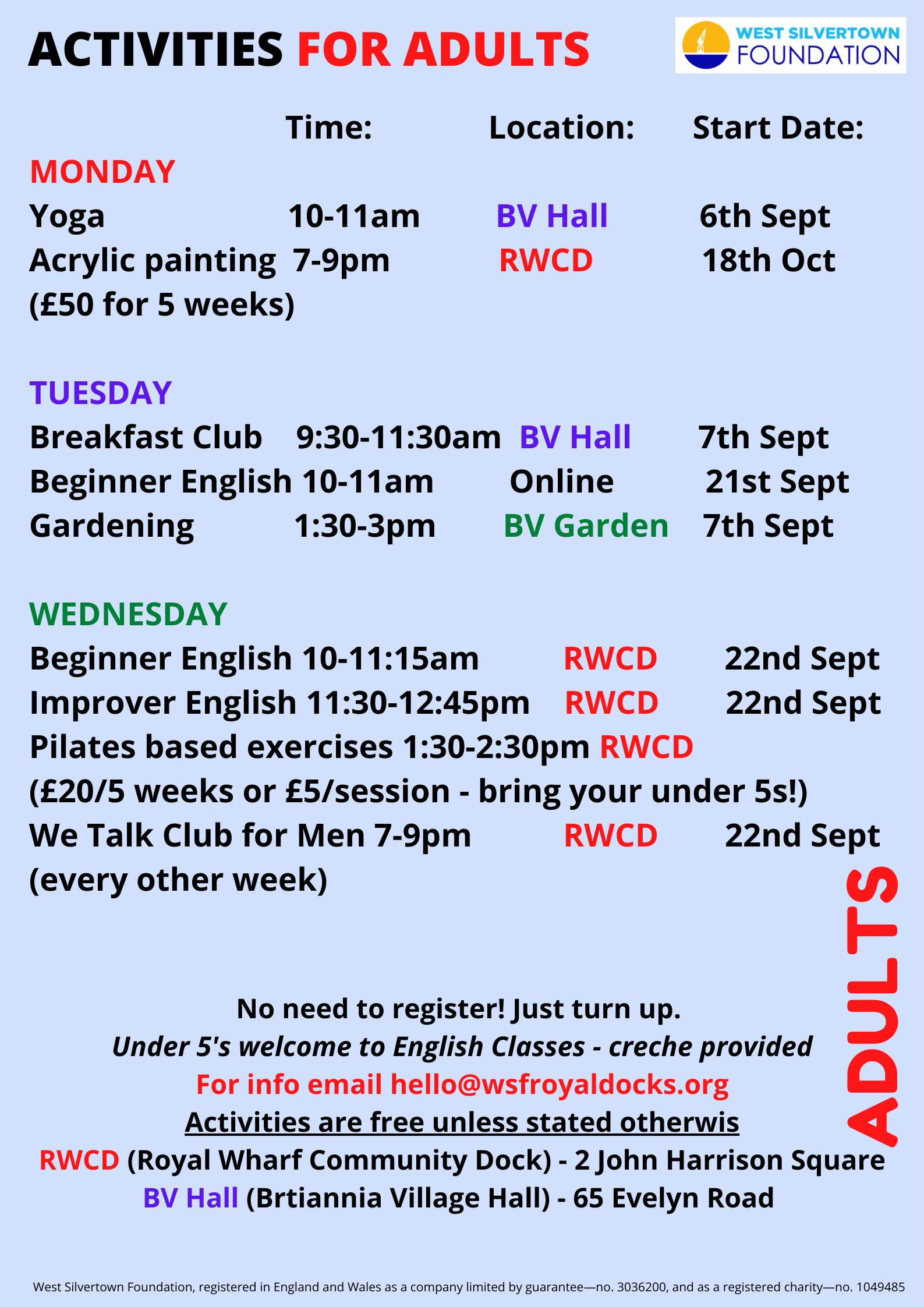 Adult activities September 21 (1)