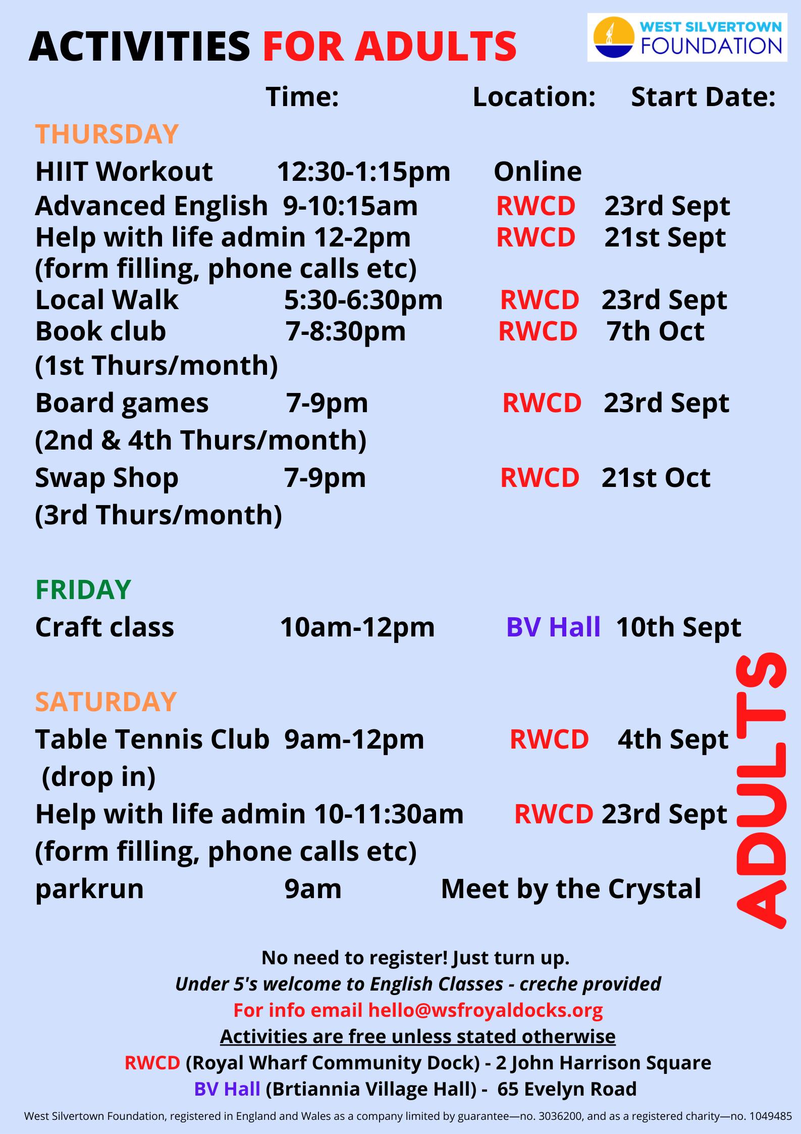 Adult activities September 21 (2)